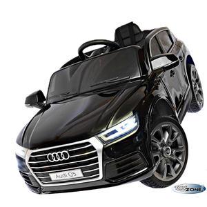 Kinderfahrzeug 12V Kinder Elektro Auto Audi Q5 schwarz MP3 USB Ledersitz Kinderauto Kinderfahrzeuge EVA Gummiräder 2,4 GHZ