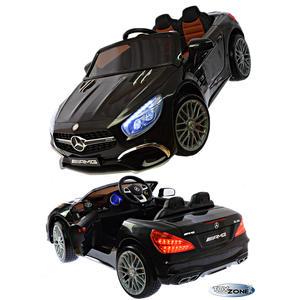 Kinderfahrzeug 12V Kinder Elektro Auto Mercedes SL65 AMG Coupe Kinderfahrzeuge EVA Gummiräder Ledersitz 2,4 GHZ Kinderauto schwarz