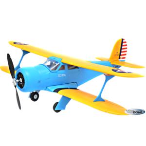 RC Flugzeug Staggerwing-Blue Doppeldecker EPO Einziehfahrwerk 2,4Ghz Brushless 1100mm 6 Kanal