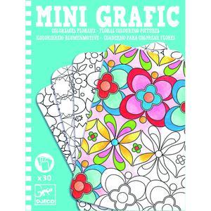 Mini Grafic, Floral colouring pictures