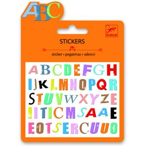 Mini-Sticker bunte Buchstaben