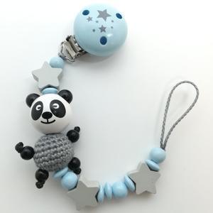 Schnullerkette Pandabärchen