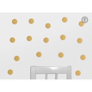 Wandtattoo 25 Punkte 4,5 cm, schimmern metallisch matt, Farbe: goldfarben