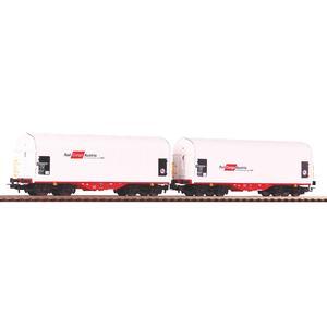 2er Set Schiebeplanenwagen Shimmns Rail Cargo Austria
