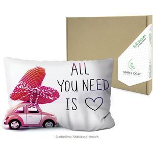 Simply Cosy Zirbenkissen in der Kartonverpackung mit Spruch: All you Need