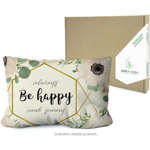 Simply Cosy Kräuterkissen in der Kartonverpackung mit Motiv: Be Happy