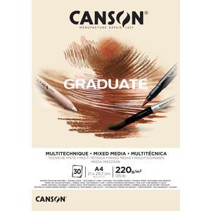 Canson Graduate Mixed Media Natur Block A4