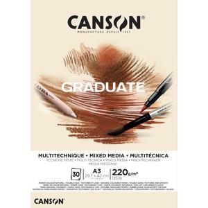 Canson Graduate Mixed Media Natur Block A3