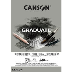 Canson Graduate Mixed Media Grau Block A3