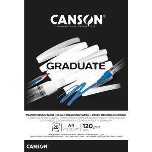 Canson Graduate Schwarzer Zeichenblock A4