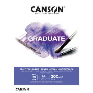 Canson Graduate Mixed Media Block A4