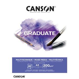 Canson Graduate Mixed Media Block A3