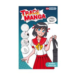 GO MANGA - TRACE MANGA - Schablone - Schulmädchen