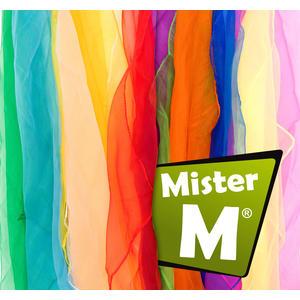 """""""Das Ultimative Jonglier Tücher Set"""", 12 Stück, Rhythmik, Jonglier, Tanz Tücher, Online Lern Video von Mister M, (6, 12 oder 20 Stück erhältlich)"""