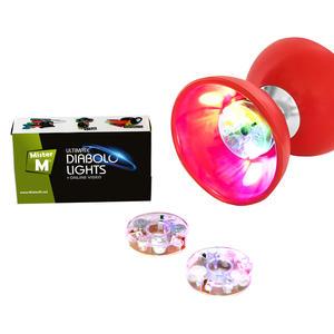 "Diabolo Lichter Set von ""Mister M"", 2 Stück LED Lichter, GRATIS online Diabolo Video"