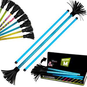 """""""Das Ultimative Flowerstick Set"""" in blau, 1 Flowerstick, 2 Stöcke, Geschenkdose und ein Online Video von """"Mister M"""" (Weitere Farben: grün, gelb, multi)."""