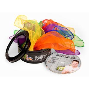 6 Tücher + DVD - CE Geprüft, - Jonglier / Verkleidung / Tanz Tücher, alles in einer Geschenkdose - Das Ultimative Tücher Set