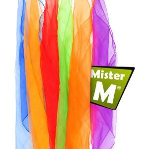 """""""Das Ultimative Jonglier Tücher Set"""" 6 Stück, Rhythmik, Jonglier, Tanz Tücher, Online Lern Video von Mister M, (6, 12 oder 20 Stück erhältlich)"""
