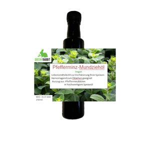 Pfefferminz Mundziehöl 250 ml vegan eignet sich hervorragend zum Ölziehen antibakteriell antiviral zur Stärkung des Immunsystems