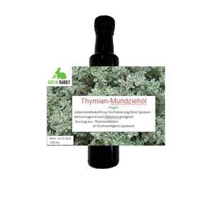 Thymian Mundziehöl 250 ml vegan eignet sich hervorragend zum Ölziehen antibakteriell antiviral zur Stärkung des Immunsystems