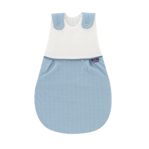 Babyschlafsack LIEBMICH Punkte blau | Größe 68/74