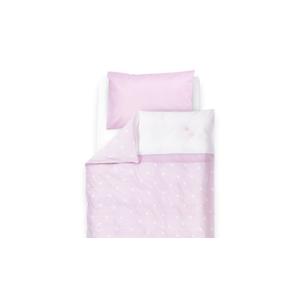Babybettwäsche Krone rosa