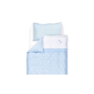 Babybettwäsche Krone blau