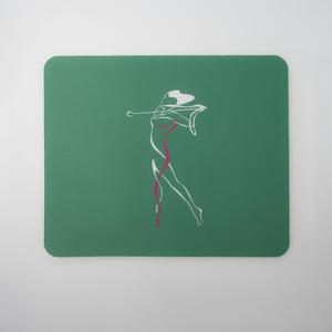 Mousepad grün, Golflady