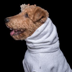 Hundebademantel GRAU