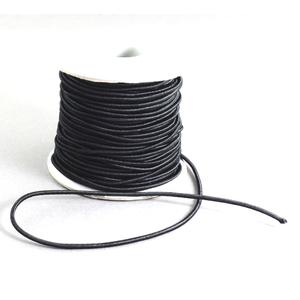 2 mm Gummikordel Schwarz 0,5 Meter