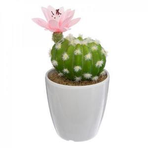 Blumentopf mit Kunstpflanze, Kaktus 15,5cm
