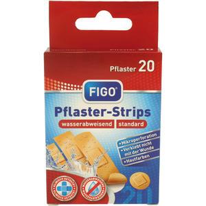 Pflaster Strips 20 Stück in 4 Größen, wasserabweisend