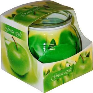 Duftkerze in einem beschichteten Glas mit Grünen Apfel Duft