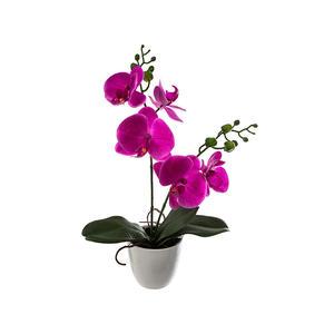 Blumentopf mit Kunstblume Orchidee 43 cm