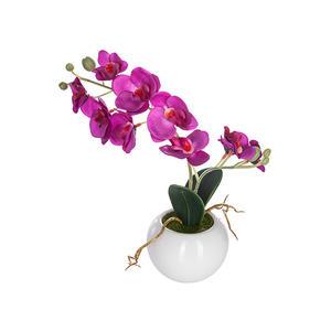 Blumentopf mit Kunstblume Orchidee 25 cm