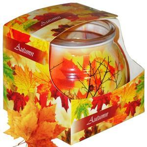 Kerzenbecher mit aromatischem ätherischem Öl 85 g QT06344 - rotes Ahornblatt