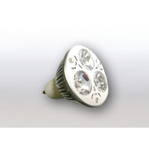 LED Spot GU10 230V 3x1W Bridgelux warmweiß 3000K