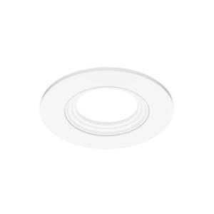 Einbaurahmen rund 90mm weiß matt für MR16 / GU10 Downlight Spots Strahler schwenkbar