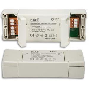 Funkschalter 3-Kanal ZIGBEE, 3 x 600VA Leistung, kompatibel mit Philips HUE ®, Osram Lightify ®, IKEA TRÅDFRI ® und ALEXA