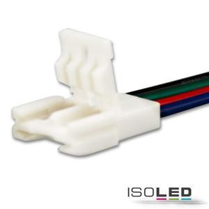 Clip-Kabelanschluss (max. 5A) für 4-pol. IP20 Flexstripes mit Breite 10mm, Pitch-Abstand >8mm