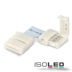 Clip-Eck-Verbinder (max. 5A) für 4-pol. IP20 Flexstripes mit Breite 10mm, Pitch-Abstand > 12mm