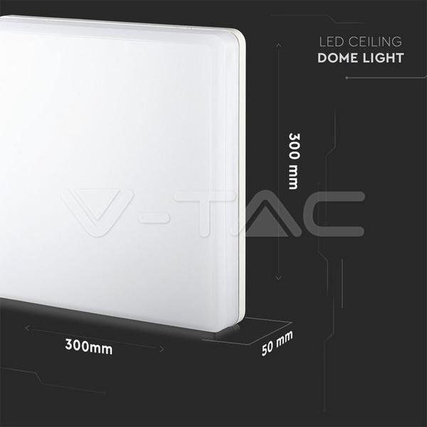 LED Leuchte Wand / Decke 300x300mm quadrat 25W Samsung LED 2500lm IP44 Feuchtraum 840 neutralweiß