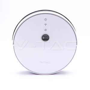Saugroboter & Bodenwischer 8649 programmierbar & WLAN APP-Steuerung, weiß, Handfernbedienung inklusive