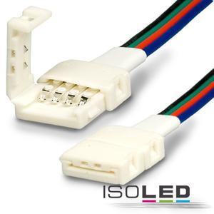 Clip-Verbinder mit Kabel (max. 5A) für 4-pol. IP20 RGB-Flexstripes mit Breite 10mm