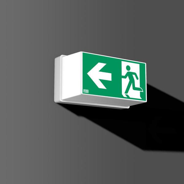 RZB LED-Notleuchte Sicherheitsleuchte Fluchtwegleuchte GSUN 2 LED 0,2W 215x115x110 3h