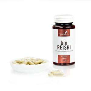 Bio Reishi - Ganoderma lucidum 120 Stk. Pilzpulver Kapseln - Bio-Zucht und Abfüllung in Österreich - Kein China-Import