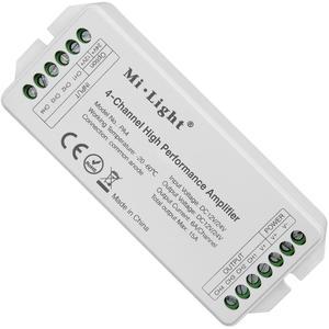 Mi.Light PA4 4 Kanal Hochleistungsverstärker DC12V-24V max. 15A RGB RGBW LED Verstärker Controller für RGB RGBW LED Strip