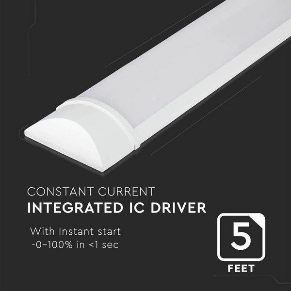LED Deckenleuchte linear ultraeffizient 160 lm / Watt 38W 150cm 6080lm 4000K neutralweiß