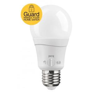Ledon Guard A60 10W/M/927 E27 230V Weiß, 12 x 6 x 6 cm - LED Birne mit automatischer Anwesenheitssimulation