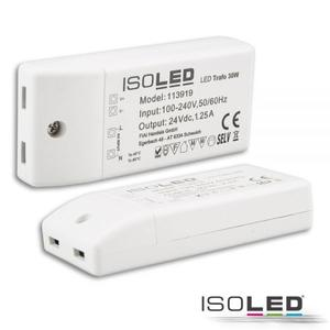 LED Trafo 24V/DC, 0-30W, kompakt, SELV, Ideal für 24V LED-Stripes bis maximal 30W